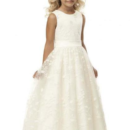 Cheap Flower Girl Dresses,Lace Flow..