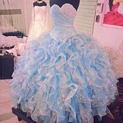 2019 Prom Dresses, Ball Gown Quince..