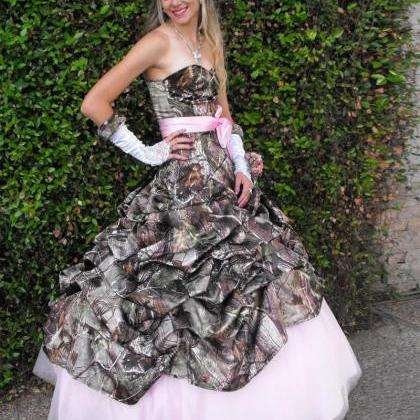 2016 New Arrival Ball Gown Camo Swe..