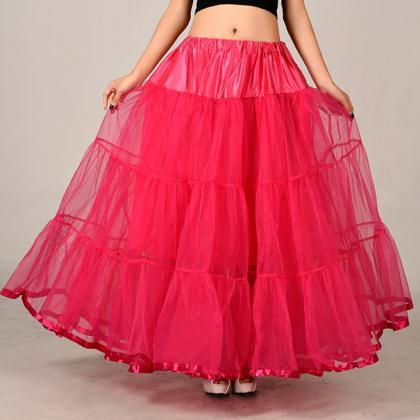 Fashion Rose Red Long Skirts Weddin..