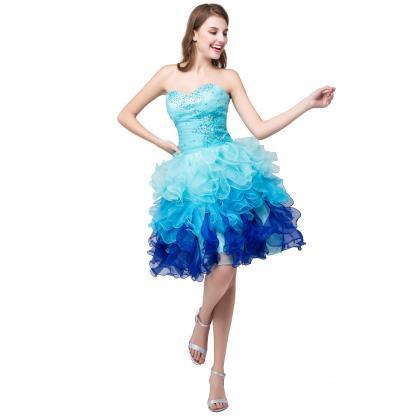 Short Formal Dresses Blue Short Pro..