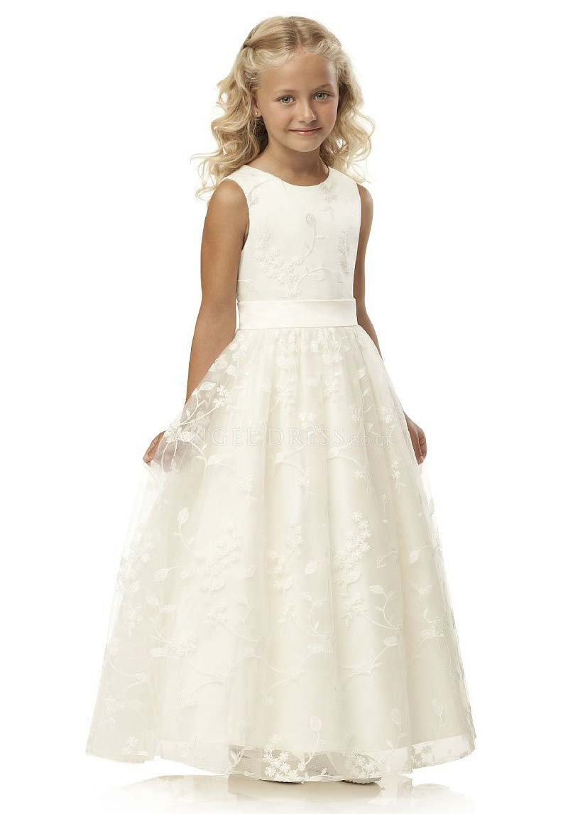 Cheap Flower Girl Dresses,Lace Flower Girl Dresses,Girls Dresses 2018,Girls Ball Gown