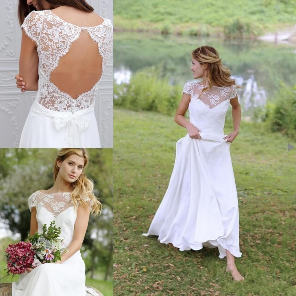 Cap Sleeve Wedding Dresses Lace Wedding Dresses Plus