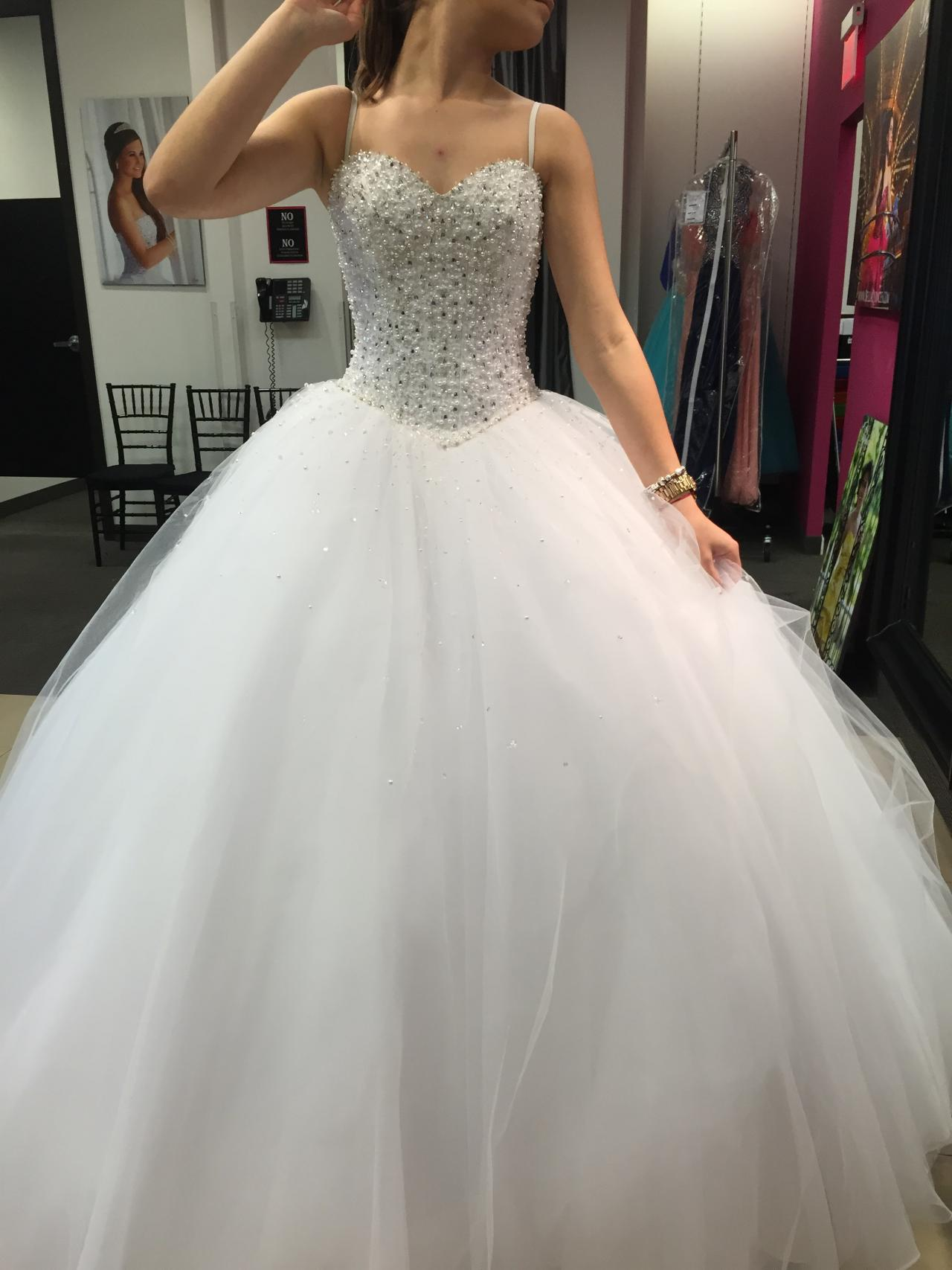 Ball gown wedding dresses beaded wedding dresses 2015 for Big white wedding dresses