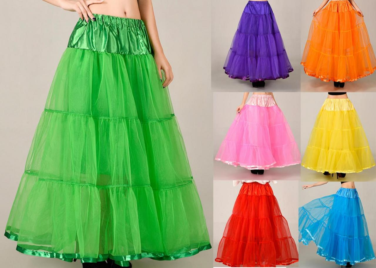 Beautiful Long Skirts Wedding Petticoat Summer Dress Long A Line ...