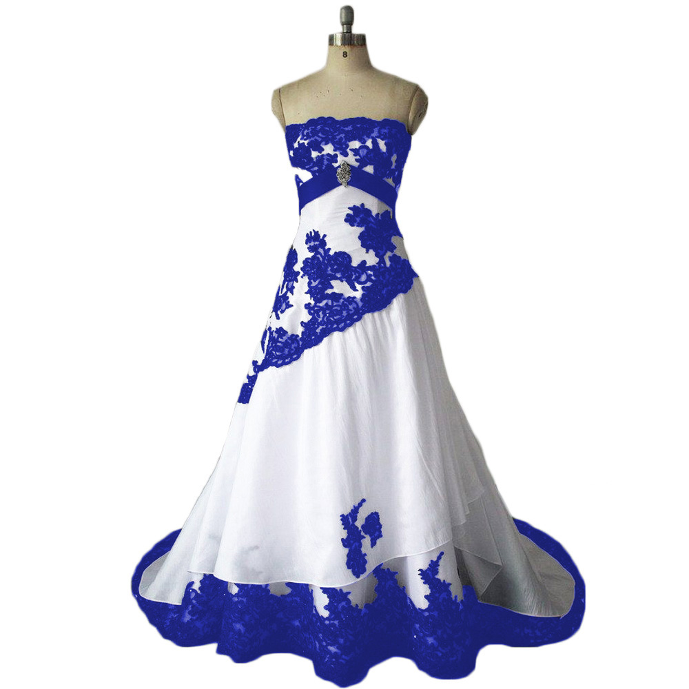 wedding dressesroyal blue wedding dressestaffeta wedding