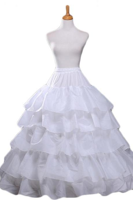 New 4 Hoop Crinoline Petticoat For Wedding Crinoline Dress Wedding Accessories Bridal Underskirt For Ball Gown