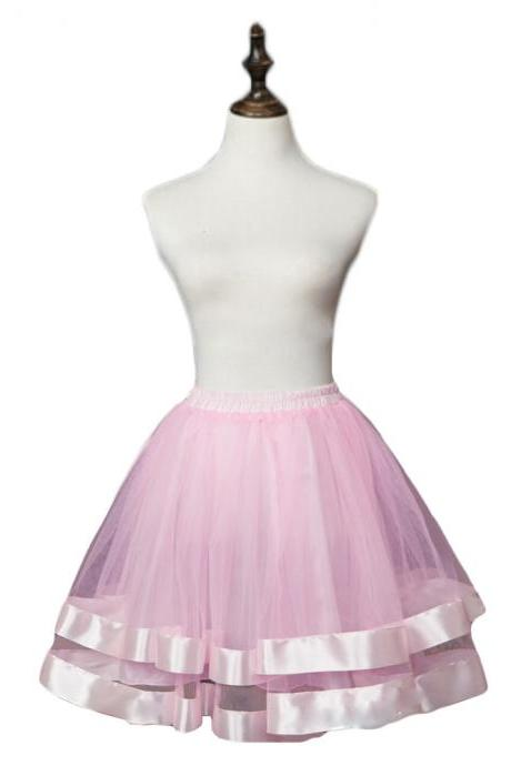 Women Short Tutu Skirts 2 Layers Underskirt Wedding Dance Skirt Mini Petticoat For Wedding Prom Dress