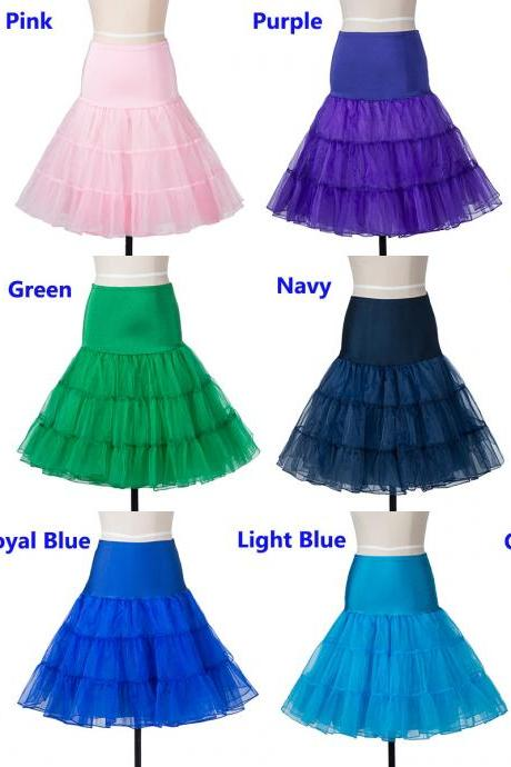 Cheap Knee Length Women Skirt Tutu Skirts A Line Midi Underskirt Petticoat For Wedding Prom Dress Bridal Gown