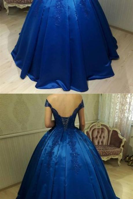 Prom Dresses,formal red carpet dresses,Royal Blue Prom Dresses, Long Prom Dresses,Long Elegant Prom Dress,Satin Prom Dresses,2018 Prom Dresses,Prom Dresses,Ball Gown