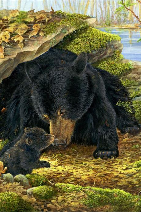 5d diy diamond painting,black bear diamond painting,animal diamond painting,home decoration