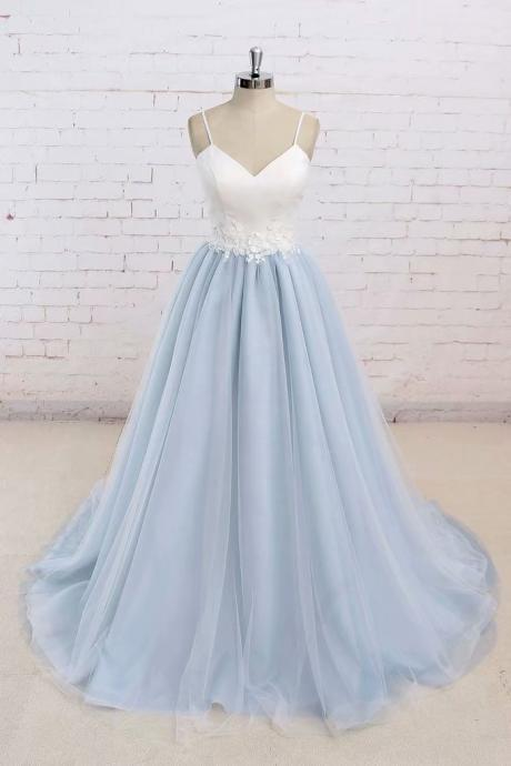 Long Prom Dresses Halter A Line Lace Evening Formal Dresses