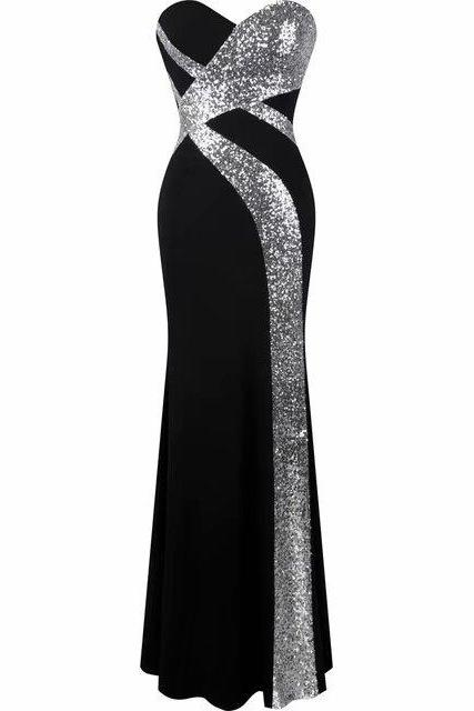 Sexy Black Prom Dresses Backless Prom Dress Real Photo Sweetheart Mermaid Prom Dresses Long Formal Dresses
