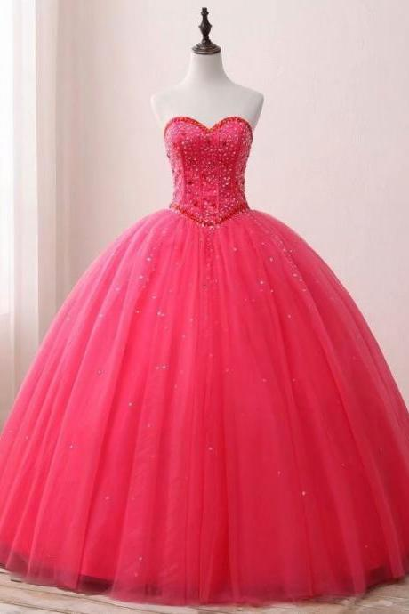Fuschia Quinceanera Dresses Sexy Sweet 16 Dress Debutante Gowns Dress Formal Prom Gown