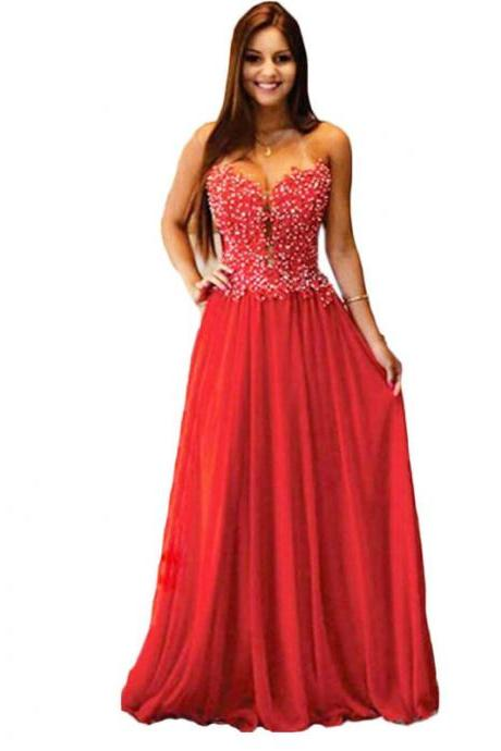 2015 long elegant red prom dresses, strapless prom dresses,sexy long chiffon evening dresses , formal prom dresses,dresses party evening,formal dresses evening,2015 new arrival formal dresses,elegant long evening dresses