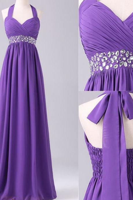 Prom Dress,Long Elegant Prom Dress,Sweetheart Prom Dresses,Custom Made Prom Dresses,Chiffon Prom Dress, Long Purple Prom Dress,2016 Prom Dresses