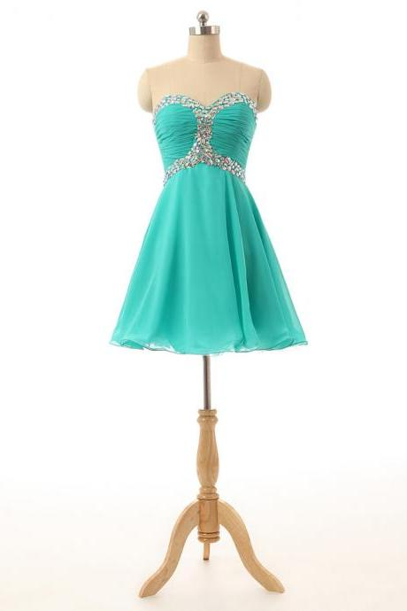 Prom Dress,Sweetheart Prom Dress,turquoise Prom dresses,Custom Made Prom Dress, Vintage Prom Dress, Short Prom Dresses,2016 Prom Dresses