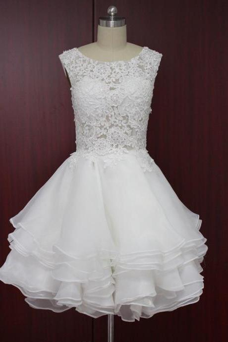 Wedding Dress, Wedding Dresses 2016, Short Wedding Dresses, lace wedding dresses,Bridal Gown