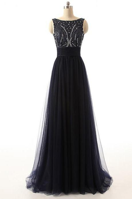 Black Prom Dresses,Sexy Prom Dress,A Line Prom Dresses, Tulle Prom Dress,Strapless Evening Dress