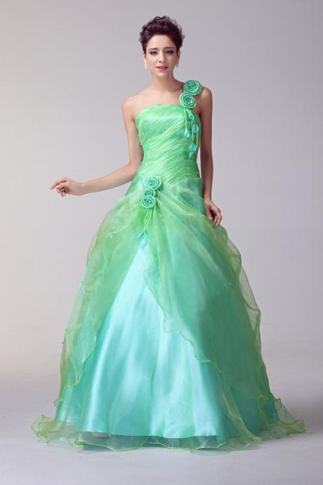 Evening Dress,Quinceanera Dresses,Ball Gown Evening Dresses,Sweet 16 Dresses,Green Prom Dresses, Formal Evening Gowns, Party Dresses,Evening Dresses