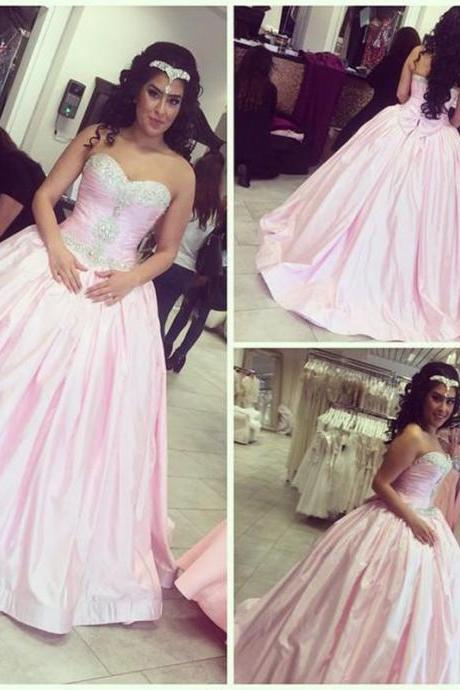 Wedding Dresses,Pink Wedding Dresses,Satin Wedding Dresses,2016 Wedding Dresses,Luxury Crystal Wedding Dresses,Real Photo Wedding Dresses,Satin Wedding Dresses,Bridal Gown