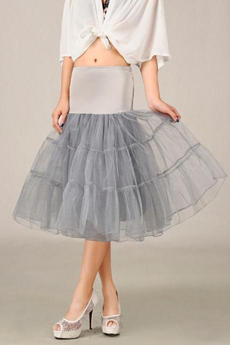 2016 Grey Summer Dress,New Short A Line Petticoat,Crinoline Underskirt, Tutu Skirts, Wedding Dress Skirt ,A Line Skirts