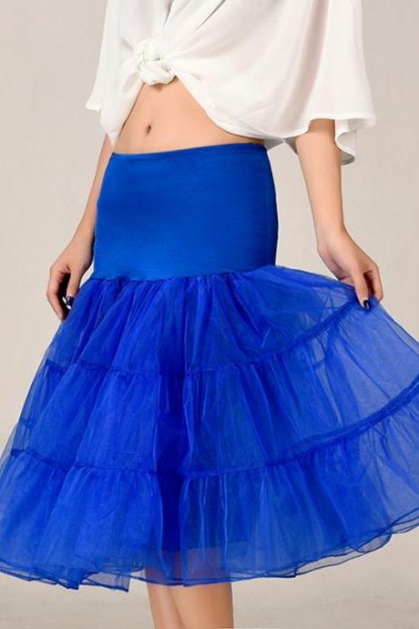 2016 Royal Blue Petticoat Summer Dress Short A Line Crinoline Underskirt Tutu Skirts Wedding Dress Skirt A Line Skirts