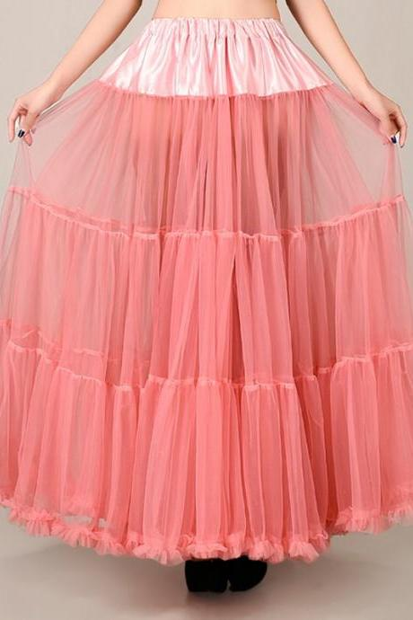 Beautiful Long Skirt, tutu skirts,petticoat,coral skirt
