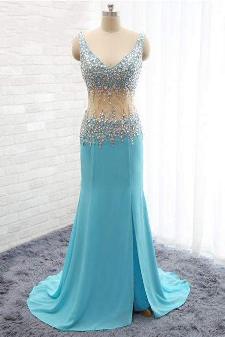 luxury prom dresses,light blue prom dresses,Crystal prom dresses,Chiffon prom dresses,sexy prom dresses,Dresses For Prom , sexy prom dresses,dresses party evening,sexy evening gowns,formal dresses evening,elegant long evening dresses