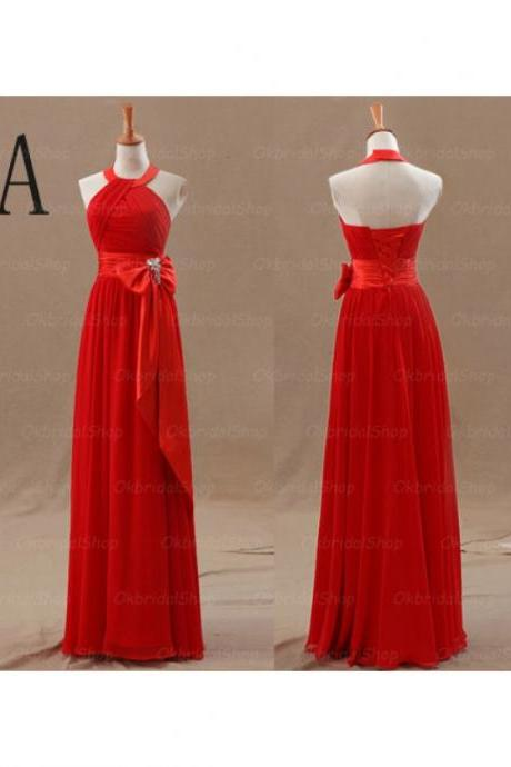 Elegant Long Mismatched Red Bridesmaid Dresses, Bridesmaid Dresses, Wedding Party dresses,Formal Gowns,Prom Dresses,Evening Gowns