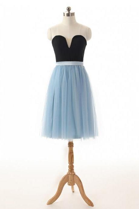 Sexy Short Light Blue Sweetheart Prom Dresses, Short Tulle Prom Dresses, Homecoming Dresses, Graduation Dresses