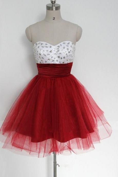 New Arrival Mini Red Evening Dress , Graduation Dresses 2016,Party Dresses,Evening Dresses, Short Prom Dress 2016