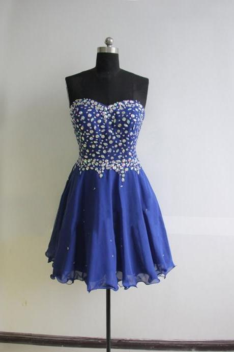 Cute Short Royal Blue Evening Dress , Graduation Dresses 2016,Party Dresses,Evening Dresses, Short Prom Dress 2016