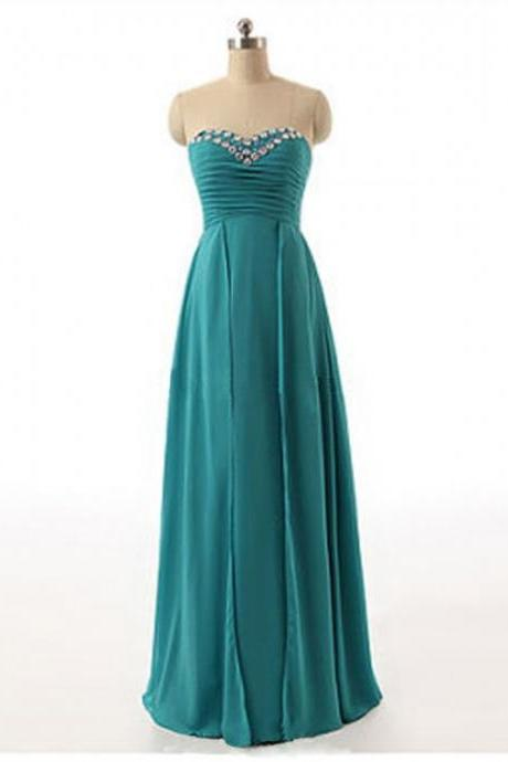 Elegant Long Sweetheart Teal Green Bridesmaid Dresses, Beautiful Floor Length Bridesmaid Dresses, Wedding Party dresses,Formal Gowns,Prom Dresses,Evening Gowns