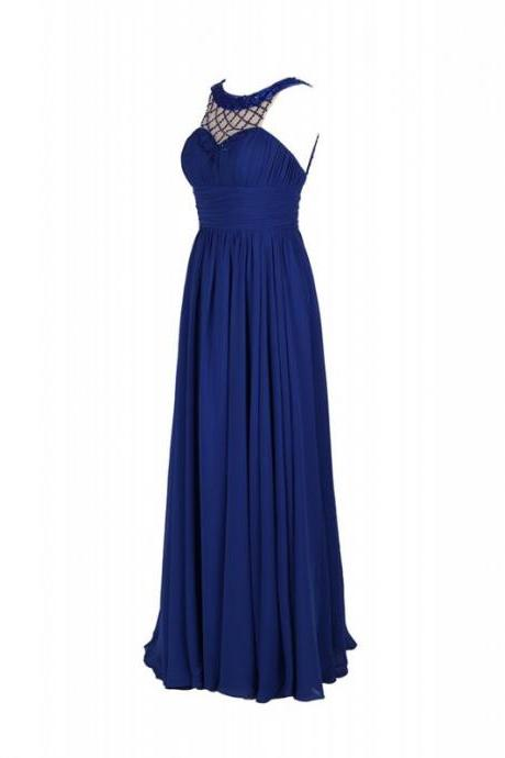 Elegant Long Royal Blue Bridesmaid Dresses, Beautiful Floor Length Bridesmaid Dresses, Wedding Party dresses,Formal Gowns,Prom Dresses,Evening Gowns