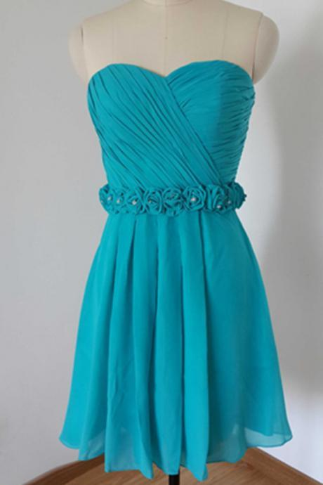 Prom Dress,Homecoming Dresses,Chiffon Prom Dress,Turquoise Prom Dresses,Short Prom Dresses,Cocktail Dresses, Custom Made Prom Dresses,Sexy Prom Dress,2016 Prom Dresses