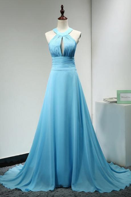 Evening Dresses 2016, A Line Evening Dresses With Keyhole,Light Blue Evening Dresses,Long Evening Dresses, Blue Dresses,Sexy Dress,Evening Gowns,Red Carpet Dresses 2016,Long Prom Dresses, Formal Gowns,Party Dresses