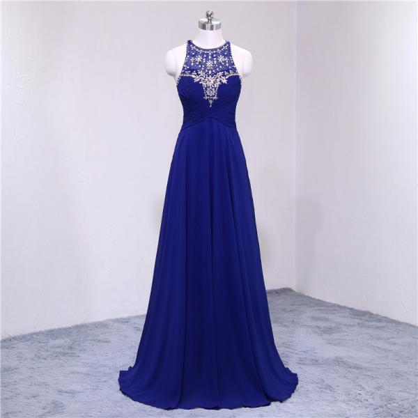 Royal Blue Evening Gown