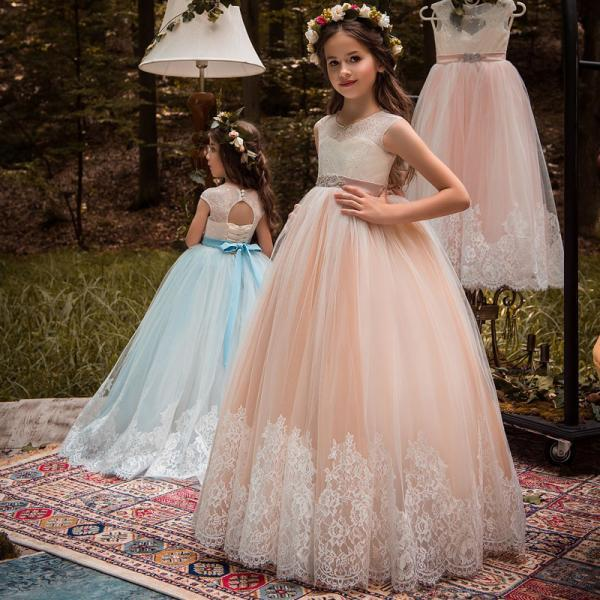 Straples flower girl dresses 2018 new tulle pageant dresses for girls