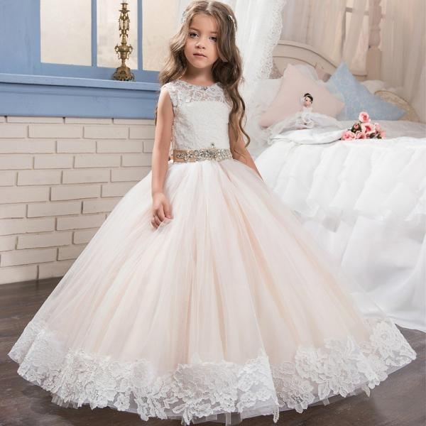 Cheap Flower Girl Dresses,Strapless Flower Girl Dresses,Girls Dresses 2018