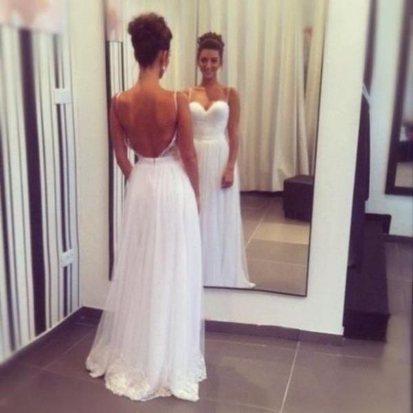 2016 White Prom Dress Sexy Backless Evening Dresses Party Dresses Robe De Soiree Formal Gowns
