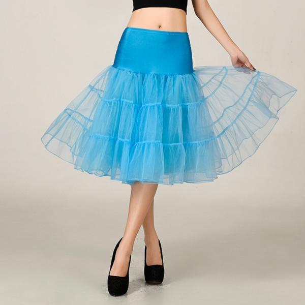 2016 Wedding Petticoat Summer Dress Short A Line Crinoline Underskirt Blue Petticoats For Prom Dresses Tutu Skirts
