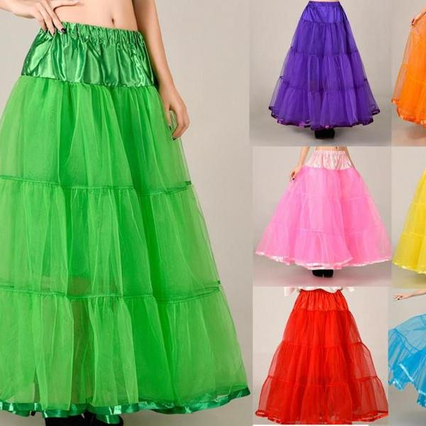 Beautiful Long Skirts Wedding Petticoat Summer Dress Long A Line Crinoline Underskirt Petticoats For Prom Dresses Tutu Skirts