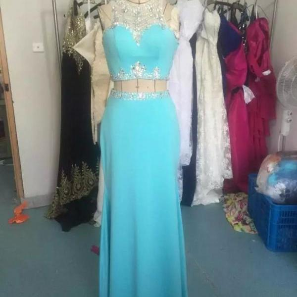 2 piece prom dresses,2016 prom dresses,light blue prom dresses,Mermaid Prom Dresses,chiffon prom dresses,sexy prom dresses,Dresses For Prom , sexy prom dresses,dresses party evening,sexy evening gowns,formal dresses evening,elegant long evening dresses